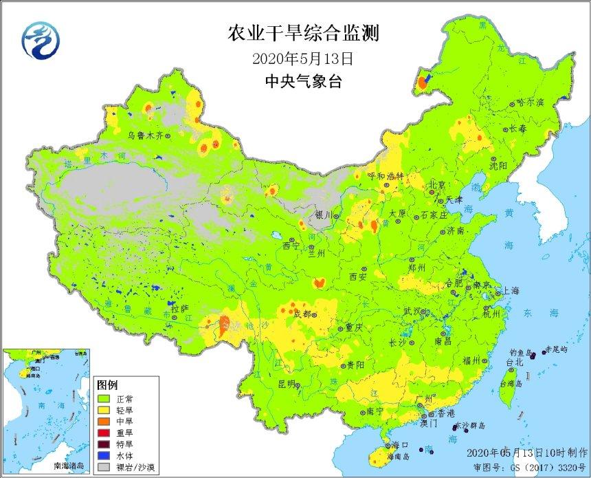 农业干旱综合监测