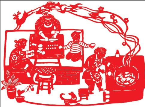 幼儿剪纸手工月饼
